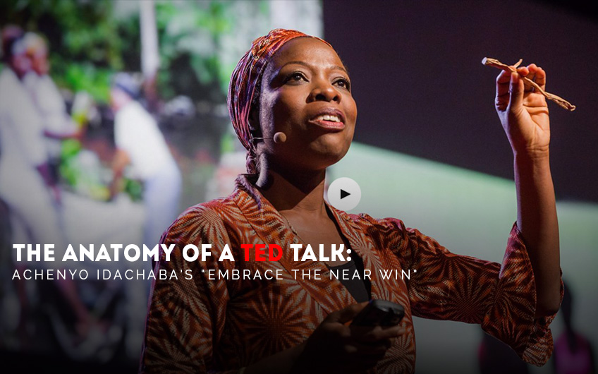 The Anatomy of a TEDTalk - Achenyo Idachabas Embrace the Near Win